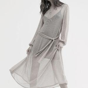 NEW Free People Silver Daybreak Midi Dress M